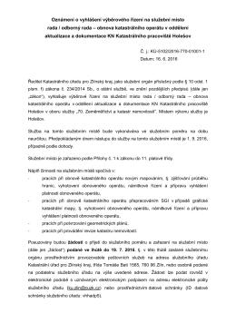 Rada / odborný rada – obnova katastrálního operátu v oddělení
