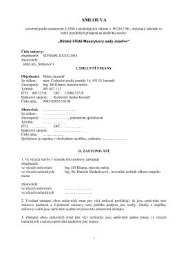 Návrh smlouvy - Město Jaroměř