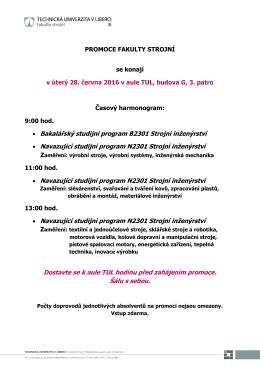 • Bakalářský studijní program B2301 Strojní inženýrství • Navazující