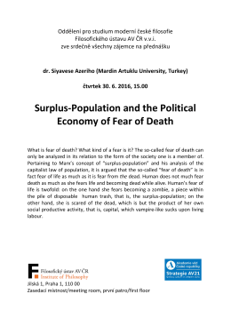 Surplus-Population and the Political Economy of Fear of Death