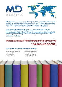 md elektronik - stipendijní program