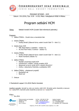 Program setkání HCM