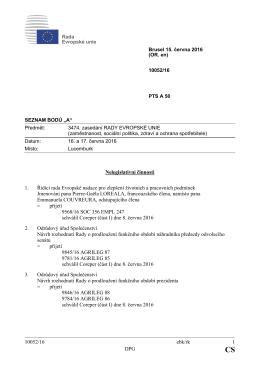10052/16 ebk/rk 1 DPG Nelegislativní činnosti 1. Řídící rada
