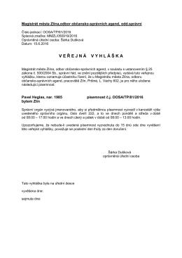 doručení VV_81_2016