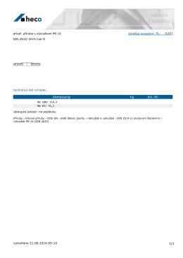 přivař. příruba s výkružkem PN 16 DIN 2633/ 2514 tvar R