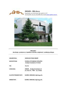 DIZAIN – ING doo - Pučko otvoreno učilište Drniš