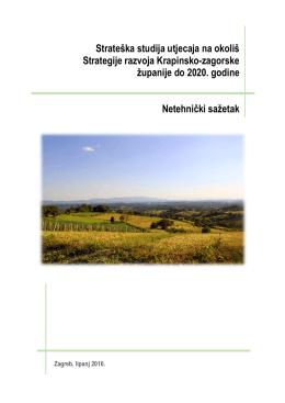 Strateška studija utjecaja na okoliš Strategije razvoja Krapinsko