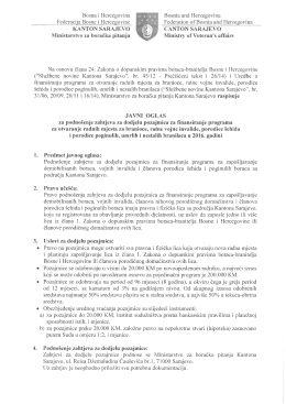 Bosna i Hercegovina Federacija Bosne i Hercegovine KANTON