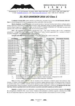 23 XCO Samobor 2016 UCI Class 1 - Raspis