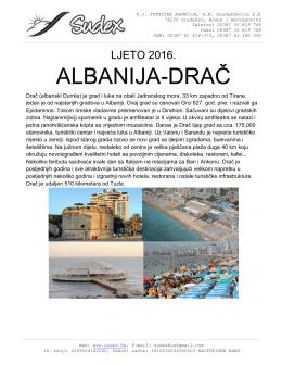 katalog broj 1.albanija 2016. - Putnička agencija Sudex bus Gradačac