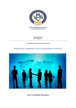 poziv - Visoka međunarodna škola Cazin