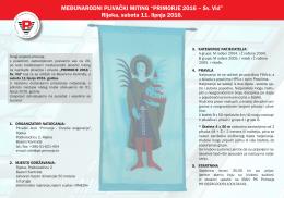 PK primorje Poziv klubovima HR 2016 - Primorje