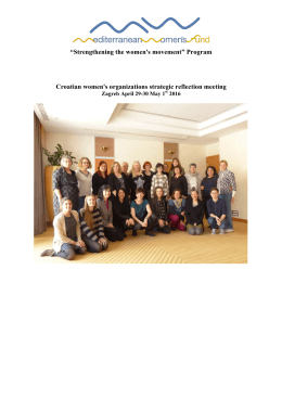 """Strengthening the women`s movement"" Program Croatian"