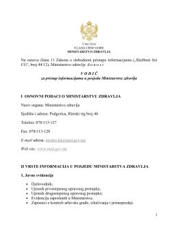Na osnovu člana 11 Zakona o slobodnom pristupu informacijama