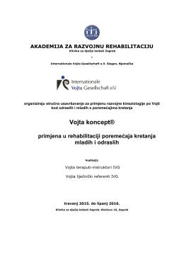 Program - Akademija za razvojnu rehabilitaciju