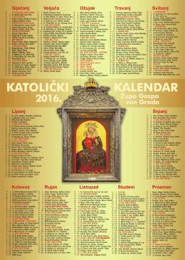 Župni kalendar 2016.