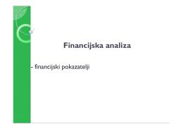 Financijski pokazatelji.
