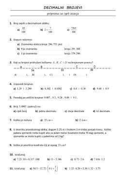 decimalni brojevi-vjezba za ispit