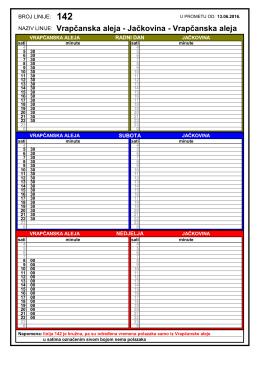 PDF raspored - ZET-a