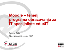 Moodle – temelj programa obrazovanja za IT specijaliste edu4IT