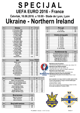 Ukraine - Northern Ireland