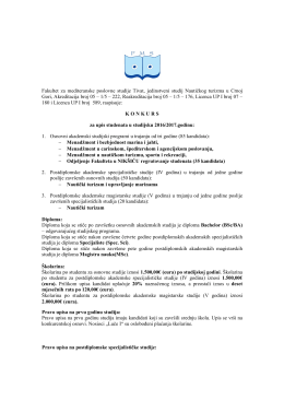 ovdje - Pocetna stranica Fakulteta za mediteranske poslovne studije