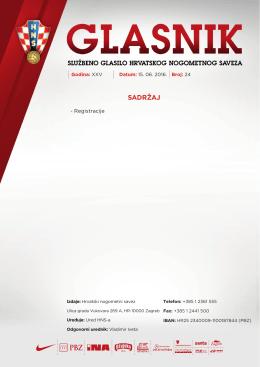 Glasnik 24/16 - Hrvatski nogometni savez