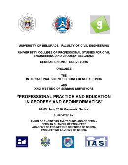 ″PROFESSIONAL PRACTICE AND EDUCATION IN GEODESY AND GEOINFORMATICS″