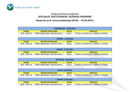 Raspored predavanja – SDiRP Mostar3