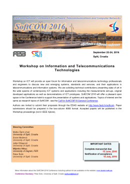 Call for Workshop on ICT