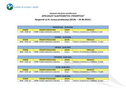 Raspored predavanja – SSiP Mostar3