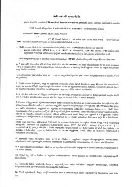 Horváthné-Szabó adásvétel