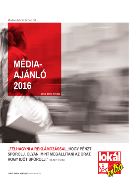 média- ajánló 2016