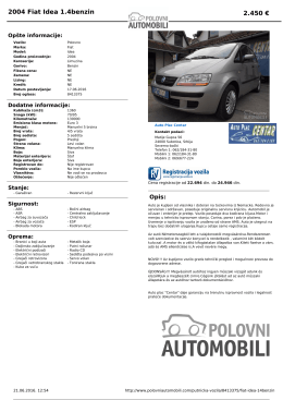 Fiat Idea 1.4benzin - PolovniAutomobili.com