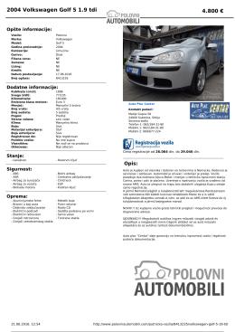 Štampaj PDF - PolovniAutomobili.com