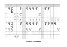 Tanári beosztás: nyári gyakorlat 2016