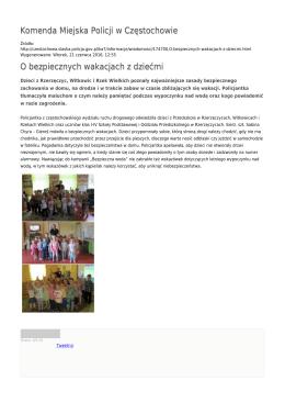 Generuj PDF - Komenda Miejska Policji w Częstochowie