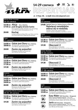 Pobierz - Kino Iskra