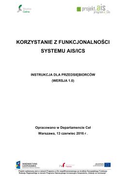 Korzystanie z funkcjonalności systemu AIS/ICS