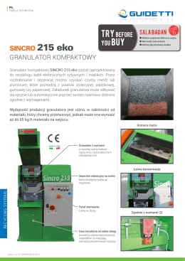 granulator kompaktowy model 215 eko