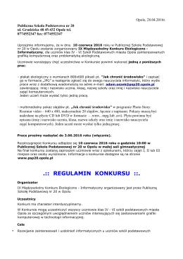 regulamin - Publiczna Szkoła Podstawowa nr 20