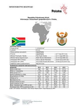 Stosunki gospodarcze z RPA
