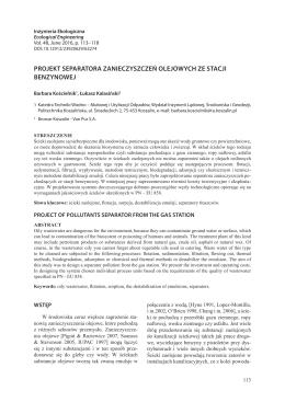 Artykuł  - Inżynieria Ekologiczna