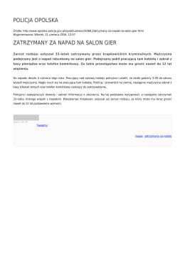 Generuj PDF - Policja Opolska