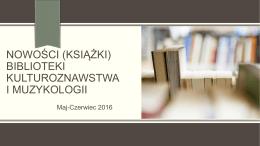 Muzykologia (maj