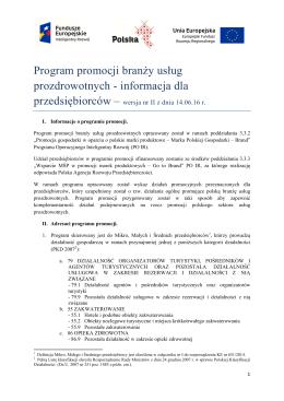 BPP sektora usług prozdrowotnych wersja II z dnia 14.06.2016 r.