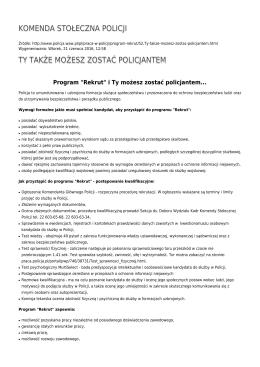 Generuj PDF - Komenda Stołeczna Policji