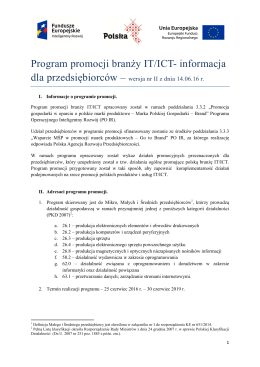 BPP branży IT/ICT wersja II z dnia 14.06.2016 r.