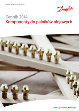 2014 Cennik komponentów do palników olejowych- PDF