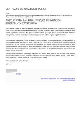 Generuj PDF - Centralne Biuro Śledcze Policji